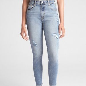Gap high rise ankle jeans size 6